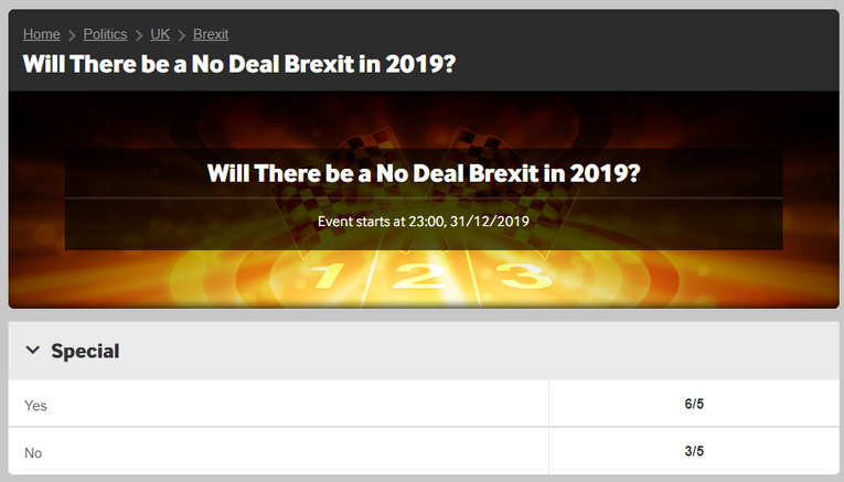 Betway Brexit Betting