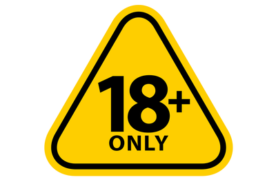 18 Plus Warning Triangle
