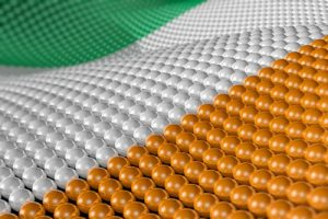 Ireland Flag Made of Spheres