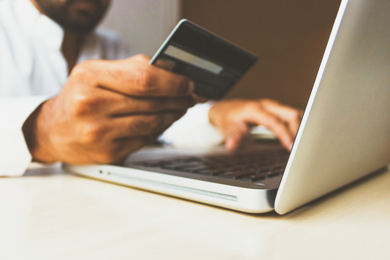 Online Payment on Laptop