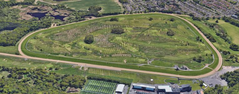 Newcastle Racecourse Overhead