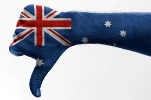 Australia Flag Thumbs Down