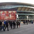 Crowd Outside Arsenal's Emirates Stadium