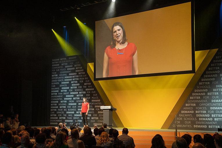 Jo Swinson at Liberal Democrat's Conference