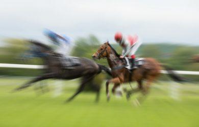 Blurred Horse Race