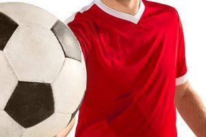 Red Football Shirt and Football