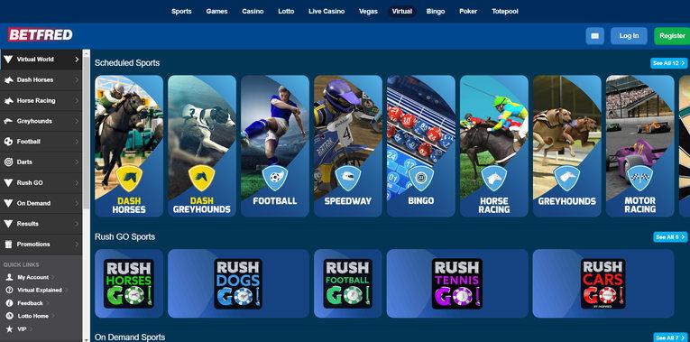 Betfred Virtual Sports Schedule