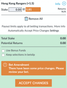 BetVictor Betslip Changes