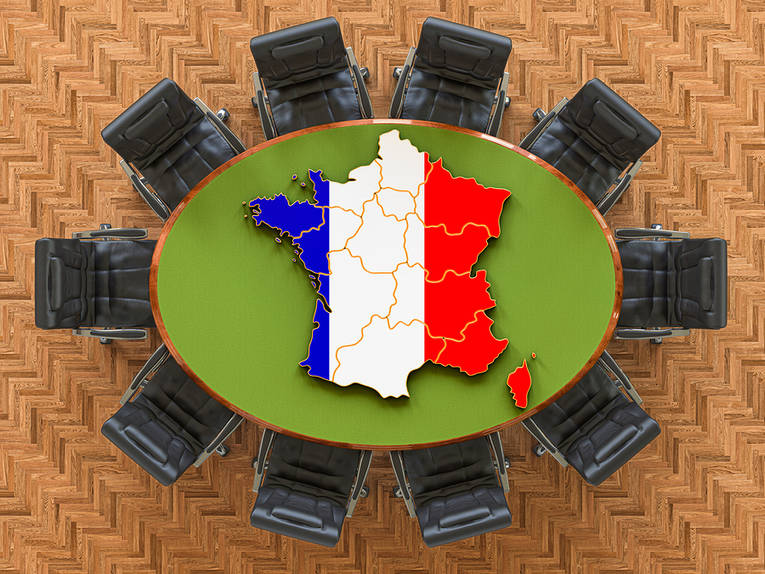 France Flag Meeting Table