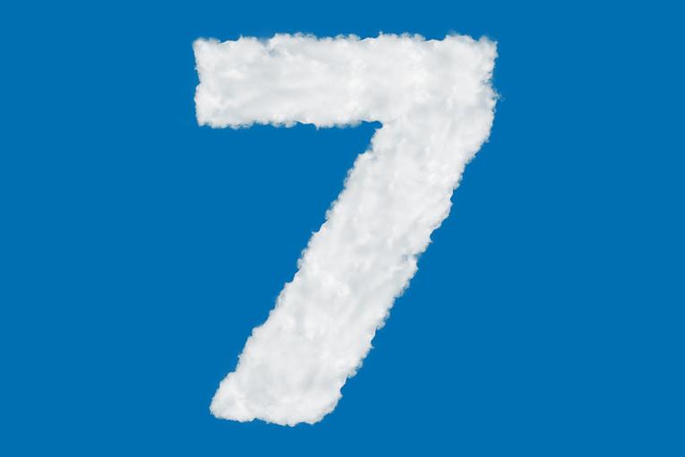 Cloud Number 7 Against Blue Sky