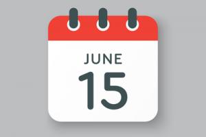 June 15 on Calendar