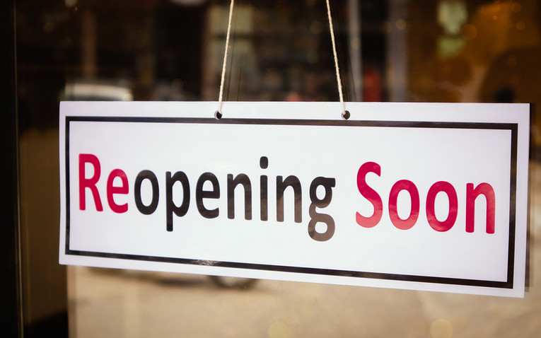 Reopening Soon Shop Sign