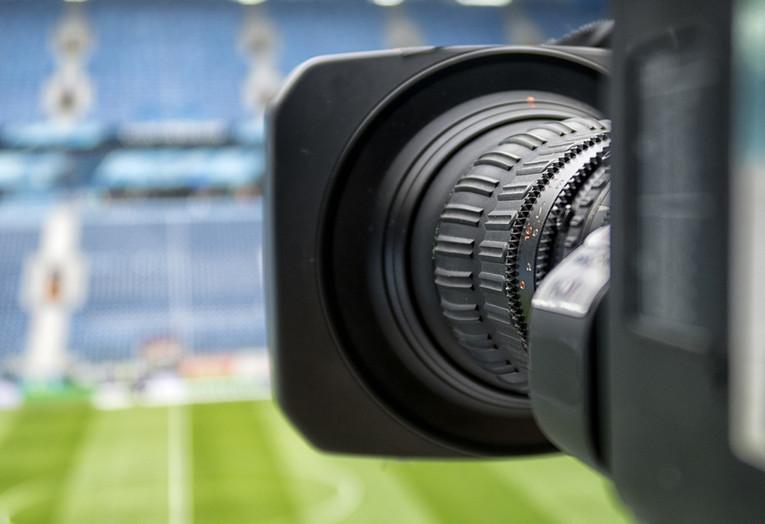 TV Camera at Football Game