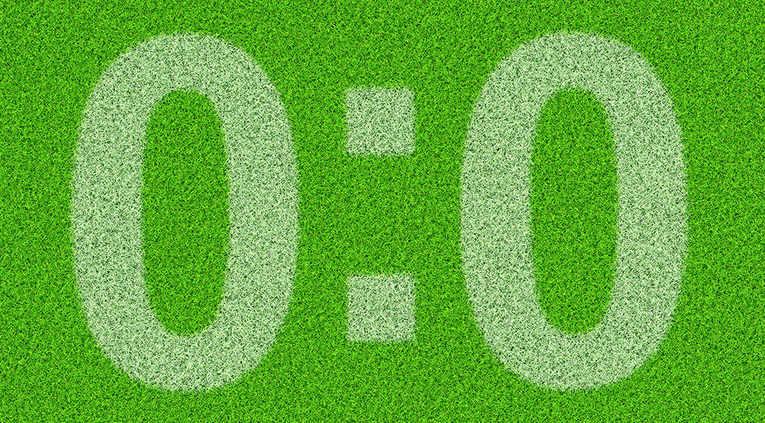 0:0 Goalless Draw on Grass