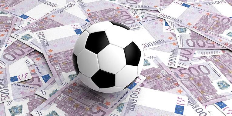 Football and 500 Euro Banknotes