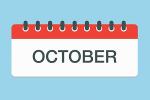 October on Calendar