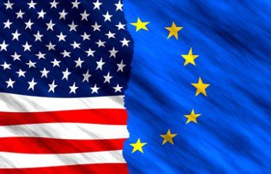 USA and EU Flags