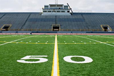 Empty American Football Field