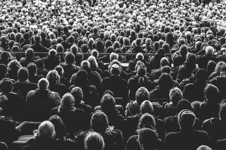 Crowd in Black and White