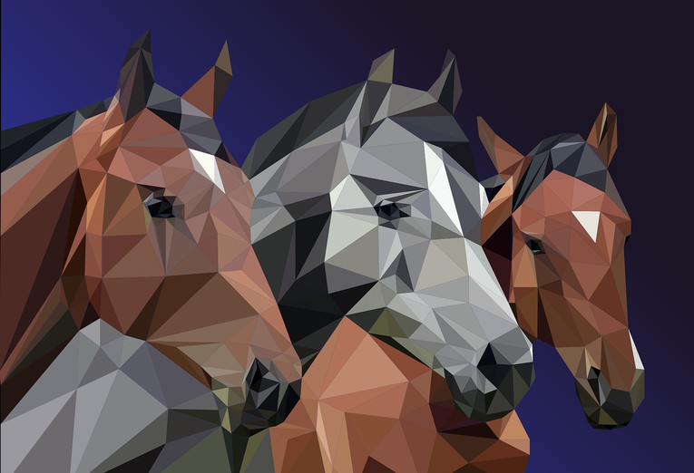 Horses Polygon Image