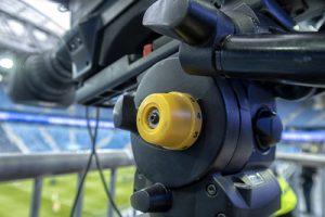 TV Camera at Football Match