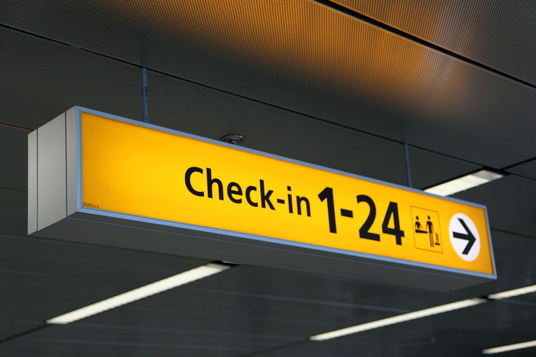 Airport Check-In Sign