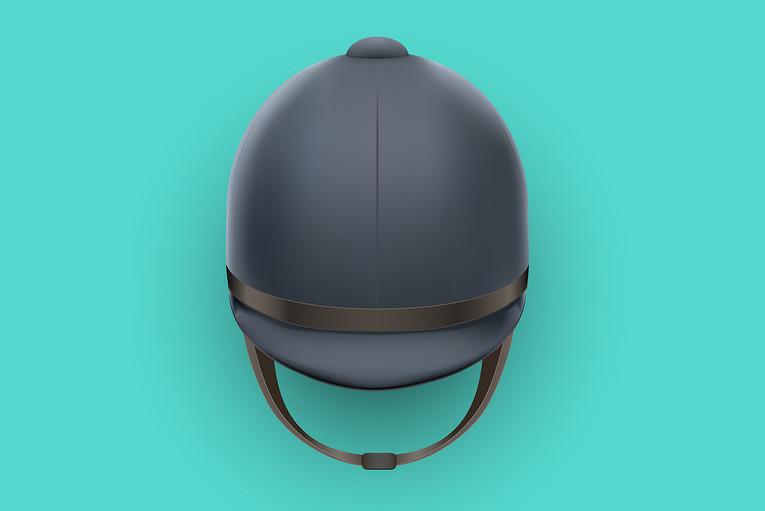 Jockey Helmet Green Background