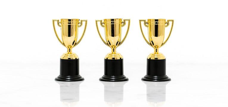 Three Gold Trophies