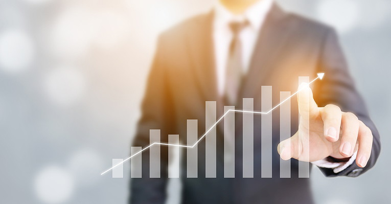 Businessman and Growth Chart