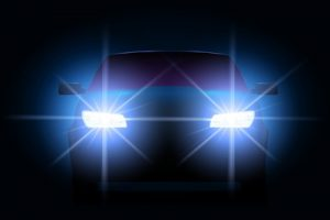 Car Lights at Night Vector