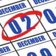 December 2nd Circled on Calendar