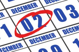 December 2nd Circled on Calendar