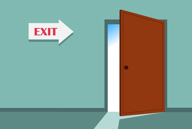 Exit Door Illustration
