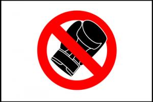 No Boxing Sign