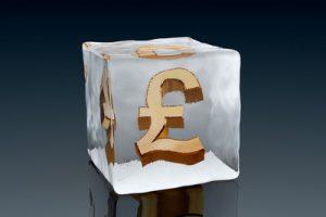 Pound Sign Frozen in Ice Block