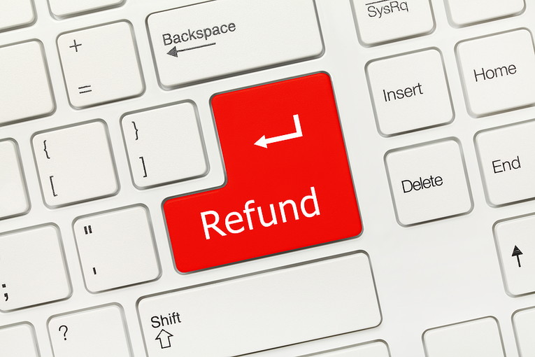 Refund Button on White Keyboard