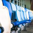Row of Coloured Stadium Seats