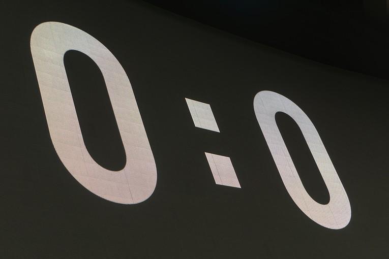 0-0 on LED Scoreboard