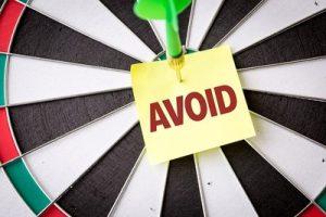 Avoid Note on Dartboard