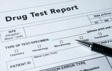 Drug Test Report Form