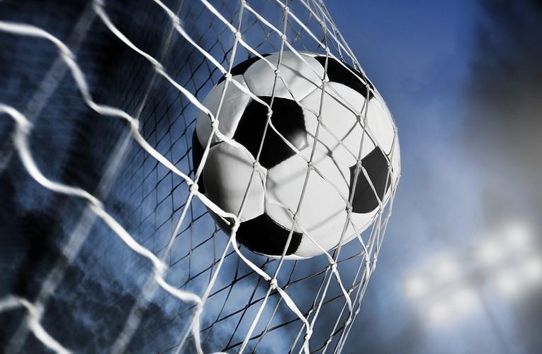 Football Against Goal Net