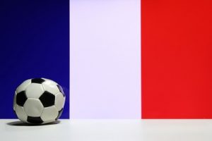 French Flag and Flat Football