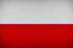 Poland Fabric Flag