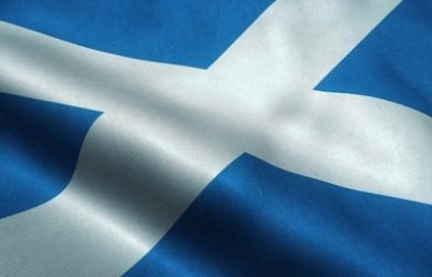 Scotland Fabric Flag