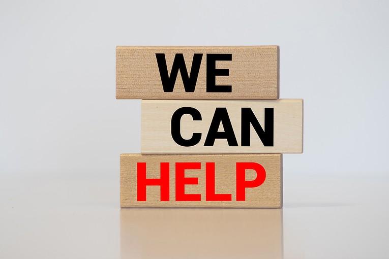 We Can Help Wooden Blocks