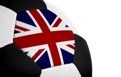 Football with UK Flag Panel