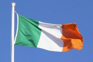 Irish Flag Blue Sky