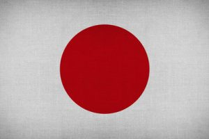 Japan Flag in Fabric
