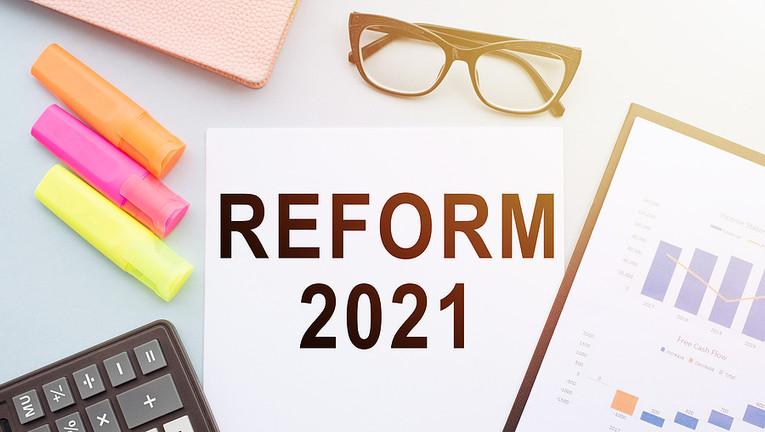 Reform 2021 on Office Desk