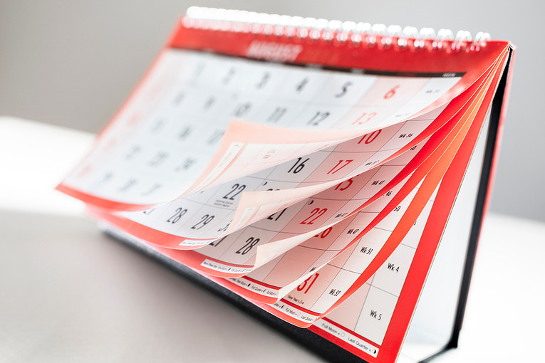 Blurred Calendar Pages